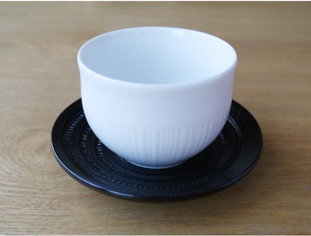 茶托,ちゃたく,黒,シンプル,
