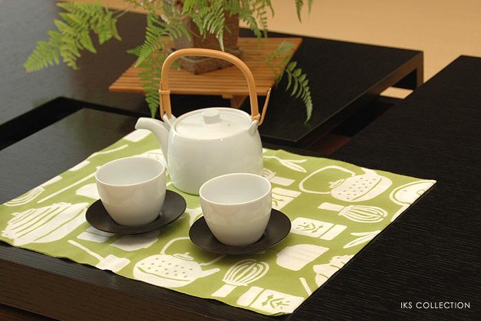 手ぬぐい日本製 お茶柄 お茶モチーフ