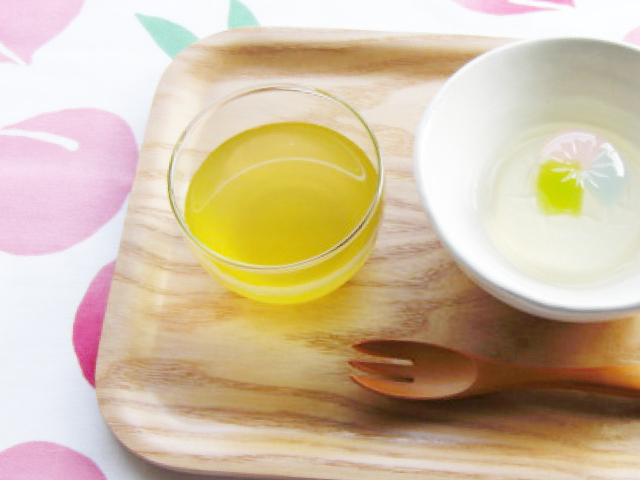白桃の緑茶