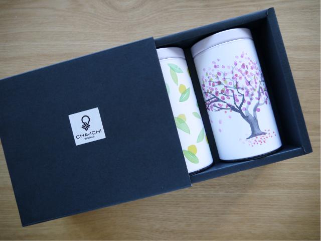 緑茶ギフト 柚子桜TB缶2